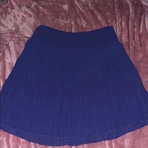 Ann Taylor Loft Blue pleated skirt